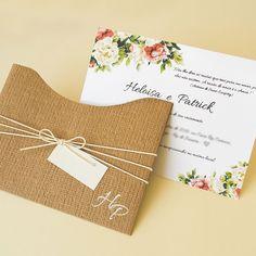 convite de casamento com papel kraft casamento rústico papel e estilo