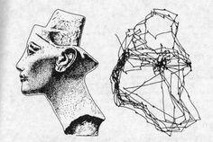 Risultati immagini per bust of queen nefertiti yarbus