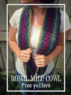 Rainbow mile cowl - free pattern