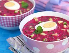 Холодный свекольный суп (свекольник)