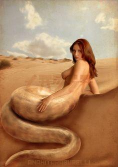 Retoque inspirado en el animal mitológico Lamia. Me encanta la criptozoología!!!