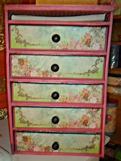 Make an organizer by recycling used shipping boxes and cardboard. Use it to store your craft supplies, dolls, doll accessories, makeup, etc. I've saved these...