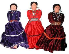navajo women velvet clothing - had these dolls as a child