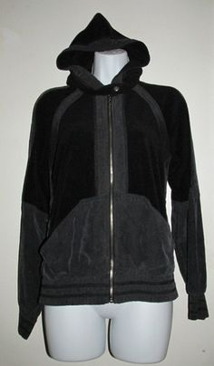 Juicy Couture Navy Blue Velour Hooded Jacket-Size Med. Starting at $10 on Tophatter.com!