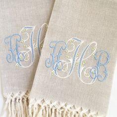 busatti fringe guest towel | dandelion monogram | the loveliest | theloveliestcompany.com