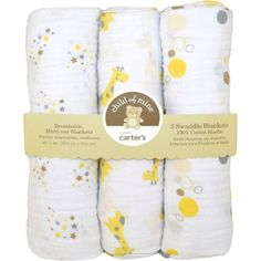 Child of Mine by Carter's Treetop Friends 3-Pack Muslin Swaddle Blankets - $17