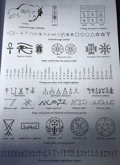 """"""" noise-vs-signal: """" """"Sigils, Ciphers and Scripts: History and Graphic Function of Magick Symbols"""" by M. This book is highly recommended - it packs a very. Witch Symbols, Occult Symbols, Magic Symbols, Symbols And Meanings, Ancient Alphabets, Ancient Scripts, Ancient Symbols, Viking Symbols, Egyptian Symbols"""