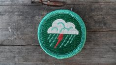 Lightning Patch / Weather Merit Badge / Cloud Patch / Cloudspotter Badge