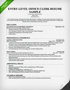 entry level office clerk resume download this resume sample to use as a template - Sample Customer Service Cover Letter