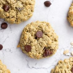 Tired of dry protein cookies that taste artificially sweetened? These chocolate chip protein cookies taste just like the real thing! Protein Powder Cookies, Baking With Protein Powder, Protein Powder Recipes, Whey Protein Powder, High Protein Recipes, Protein Foods, Healthy Recipes, Protein Cookie Recipe, Chocolate Chip Oatmeal