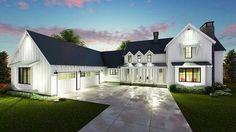 Plan 62544DJ: Modern 4 Bed Farmhouse Plan Different take on a farmhouse. Love the open feel