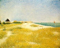 'View of Fort Samson, Grandcamp' by Georges Seurat     Google Image Result for http://www.ibiblio.org/wm/paint/auth/seurat/fort-samson.jpg