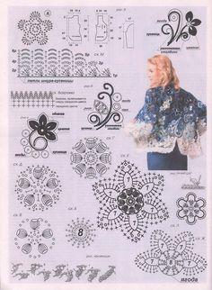 "irish crochet flowers Photo from album "" 602 2016 on Freeform Crochet, Crochet Motif, Crochet Flowers, Crochet Stitches, Irish Crochet Patterns, Crochet Chart, Crochet Designs, Russian Crochet, Irish Lace"