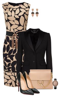 """""""Untitled #4594"""" by barones-tania ❤ liked on Polyvore featuring Balmain, Alexander McQueen, Chloé, Christian Louboutin and Gucci"""