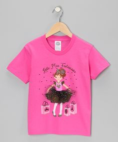 Hot Pink 'Little Miss Fashionista' Tee - Toddler & Girls | Daily deals for moms, babies and kids