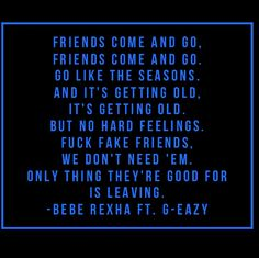 Bebe Rexha • Fuck Fake Friends (ft. G-Eazy)
