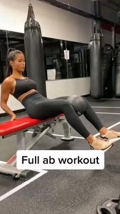 Full Ab Workout, Gym Workout Videos, Gym Workout For Beginners, Butt Workout, Workout Challenge, Stair Climber Workout, Toned Legs Workout, Slim Waist Workout, Workout Plans