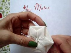 """fuxico origami """"ANE MATOS"""" although this is in spanish..its easy to follow"""