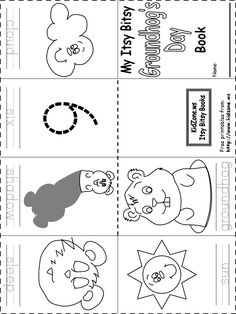 Itsy bitsy Ground Hog Day book - free printable........some neat ideas