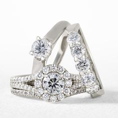 So many styles of sparkle to choose from with these Signature Forevermark Diamond engagement rings from Ben Bridge!