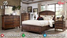 Great Wood Kamar Set Minimalis Jati Gorgeous Natural Classy Versace MMJ-0899