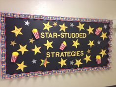 Testing bulletin board for hollywood themed classroom