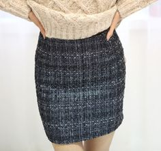 [Secret2Girls] Tweed H-Line Mini Skirt