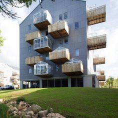 Pradenn Social Housing by Block Architects - Veranda is a glass house -  too hot in Australia great for Norther hem