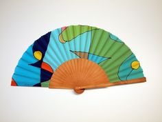 Handpainted Silk hand fan-Wedding hand fan-Giveaways-Bridesmaids-Gift for woman-Mom-Wife-Her-Girlfriend-Leather case-Ready to be shipped de gilbea en Etsy Hand Fans For Wedding, Wedding Hands, Gifts For Your Girlfriend, Gifts For Wife, Painted Fan, Hand Painted, Watercolor Bookmarks, Leather Case, One Pic