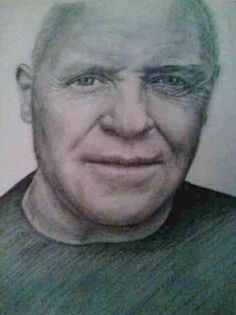 Anthony Hopkins. Celebrity  art. Pencil portraits. Graphite pencil. Graphite pencil Portraits by Amber Huckaba photo realism $150.  Check me out on Facebook  @Beholder Arts https://www.facebook.com/permalink.php?story_fbid=1583598215202285&id=1583596065202500