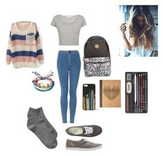 No. 152 by emmurray-md on Polyvore featuring Topshop, Gap, Vans, Pura Vida, FOSSIL, Forever 21 and SkinCare