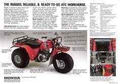 Honda ATC ATV 3 Wheeler, Quad, TRX, FL Odyssey & Pilot NOS OEM Parts - Honda ATC200/E/ES/M/S