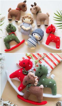 Crochet Christmas Decorations, Crochet Decoration, Crochet Christmas Ornaments, Holiday Crochet, Crochet Ornament Patterns, Crochet Patterns Amigurumi, Free Christmas Crochet Patterns, Crochet Crafts, Crochet Projects