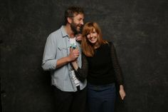 Kelly Reilly and Kyle Baugher moments after their wedding ...