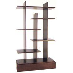 Wayborn Hason Decorative Bookcase - Walnut - Bakers Racks at Hayneedle $420