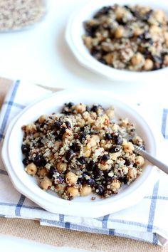 Quinoa, Black Bean & Chickpea Quinoa Salad