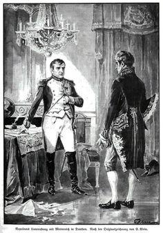 La conversation de Napoléon avec Metternich Dresde (Dessin Emil Klein)
