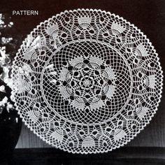 Flower Crochet Doily Pattern Cotton Crochet by PatsCraftsShop