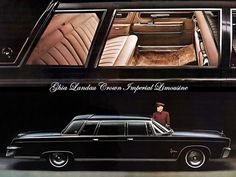 Chrysler Limousine, Limousine Car, Chrysler Cars, Shopping In Italy, Le Palais, Palais Royal, Imperial Crown, Chrysler Imperial, Mercedes Benz 300