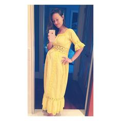 """#oliviawilde: """"What to do when you look like Homer Simpson ate Little Miss Sunshine? Chill the f out. They're both heroes. But also, go to the @bkflea and score a dress from 1974, when apparently someone stretched out the middle part juuuuust the way you need it. #oldisthenewnew #vintage @waywardcollection"""""""