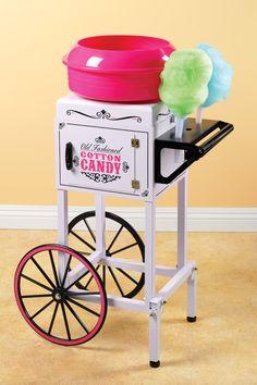 """Nostalgia Electrics CCM510 38"""" Tall Vintage Collection Commercial Cotton Candy Cart: Amazon.com.mx: Hogar y Cocina"""