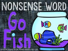 Practice nonsense words with this fun Go Fish freebie.  Just print, cut and laminate and you have a fun game on hand to practice nonsense words!Keywords:  NWF, DIBELS, Nonsense Word Fluency