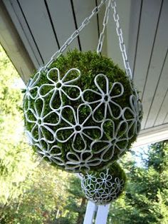 Hanging basket balls. Oh my