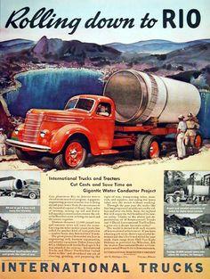 Old International Trucks | 1940 International Trucks Classic Vintage Print Ad
