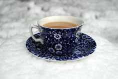 cup of tea in the snow. thats it. nuff said! But hey - a cuppa is exactly what we need when it's cold and snowy!!