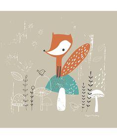 Tableau enfant thème forêt le renard
