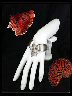 Handmade OOAK silver spoon summer coastal sealife bracelet