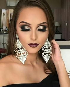 Makeup For Black Dress Perfect Gorgeous Eyebrows Foundation