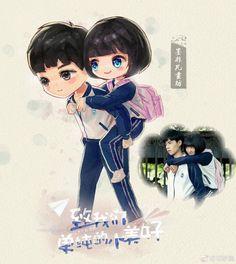 A love so beautiful Love Cartoon Couple, Cute Couple Art, Anime Love Couple, A Love So Beautiful, Cute Love, Live Action, Dramas, Cute Cartoon Characters, Cute Anime Coupes