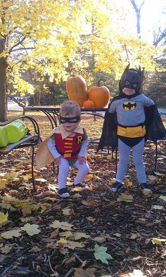 The boy's toddler batman and robin Holloween costumes 2011 total cost for BOTH $17.75.  (and I won 20 bucks in a costume contest at the fire barn :) )